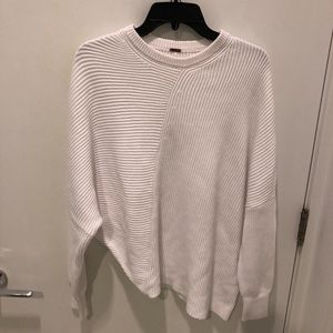 Free People Ribbed Knit Asymmetric Sweater